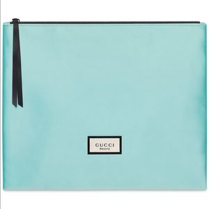 Gucci beauty Cosmetic bag pouch new blue teal